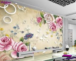 beibehang 3d large interior decoration painting the retro rose