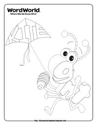 wordworld 2 free disney coloring sheets color udin