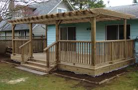 deck and trellis tags fabulous deck with pergola awesome build