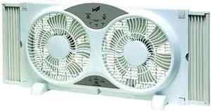 electrically reversible twin window fan comfort zone 9 reversible 3 speed twin window fan w remote control