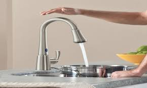 one touch kitchen faucet reviews combined brushed nickel amazon