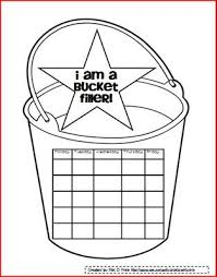bucket filling coloring pages bucket filling sticker chart