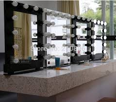 buy makeup mirror with lights simple and decent profession aluminum framed makeup artist mirror