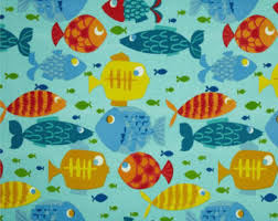Extra Wide Table Runners Fish Table Runner Etsy