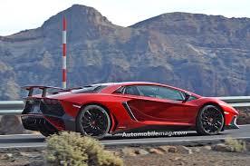 Lamborghini Aventador On Road - undisguised lamborghini aventador sv spied on the road