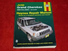 haynes repair manual jeep grand cherokee 1993 thru 2004 all