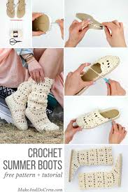 Flip Flop Rug Lacy Crochet Boots Pattern For Adults Made With Flip Flops