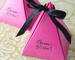 personalized wedding favor boxes monogram stardream pyramid favor box
