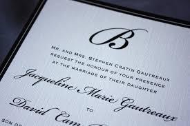 Monogram Wedding Invitations Formal Black Monogram And Border Wedding Invitations Emdotzee