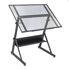 Drafting Table Images Studio Design Solano Drafting Table Black Glass 42in Deserres