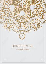 ornamental element for design traditional gold decor ornamental