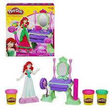 The Little Mermaid Vanity Play Doh Disney Princess Ariel U0027s Royal Vanity Playset Hasbro