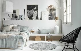 tapis rond chambre chambre à coucher chambre à coucher design scandinave couleur