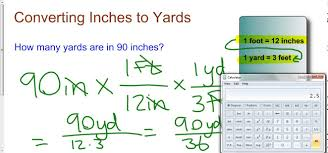 converting inches to yards youtube