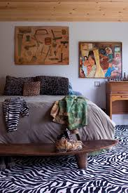 Leopard Print Runner Rug Zebra Print Rug In Bedroom Modern With African Theme Next To