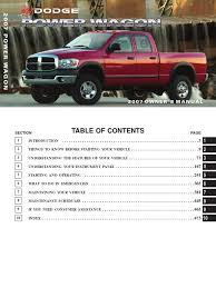 2007 Ram Powerwagon Owners Manual Seat Belt Airbag