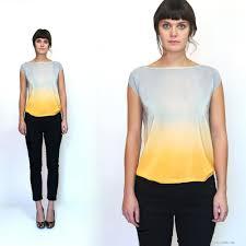 ombre blouse ombre silk top silk blouse dyed silk xsilk