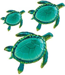 Sea Turtle Bathroom Accessories Amazon Com Regal Art And Gift Sea Turtle Wall Decor Set Of 3