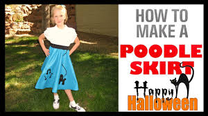 poodle skirt halloween costume how to make a poodle skirt 1950 u0027s halloween costume youtube