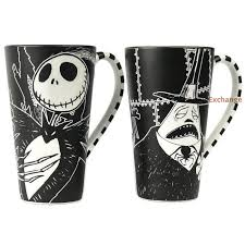 disney store nightmare before mugs skellington