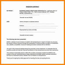 investors agreement template investment agreements 39 ready to