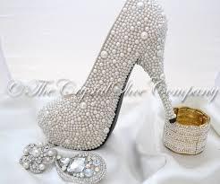 world s most expensive shoes swarovski pearl ivory cream encrusted wedding bridal high heel