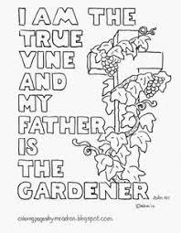 vine bible coloring adults john 15 5 nkjv