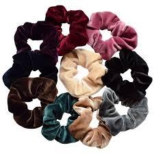 hair scrunchies hair ties for women coxeer 10pcs hair scrunchies velvet no damage