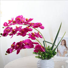 aliexpress com buy fashion diy artificial butterfly orchid silk