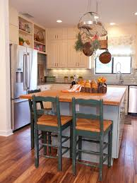 kitchen brown wooden kitchen island with gray marble counter top