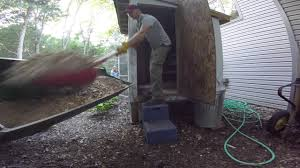 cleaning out the chicken coop life at the big house in the