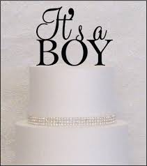 it u0027s a boy baby shower cake topper in black gold or silver