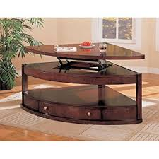 pie shaped dining table amazon com coaster pie shaped lift top occasional sectional coffee