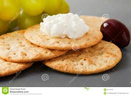 cottage cheese with crackers stock image image 25779761