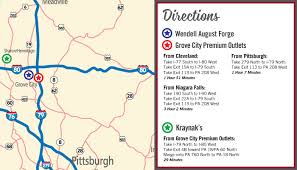 grove city outlet map uncover bargains in mercer county cbs pittsburgh