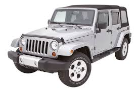 jeep white matte avs jeep wrangler 2017 aeroskin hood shield