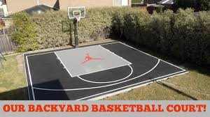 Backyard Basketball Court Our Backyard Basketball Court Youtube