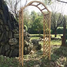 garden archway wooden home outdoor decoration