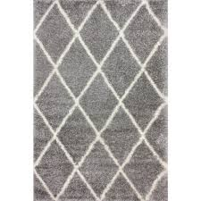 White And Gray Area Rug Nuloom Shanna Shag White 6 Ft 7 In X 9 Ft Area Rug Ozez04a 6709
