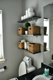 Decorating Bathroom Shelves Half Bathroom Decor Bombilo Info