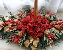 Gold Christmas Centerpieces - christmas centerpiece red and gold holiday decor
