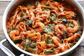Dinner Ideas With Shrimp And Pasta One Pot Shrimp Parmesan Pasta Damn Delicious
