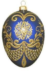david jones david jones boxed glass egg ornament with gold and
