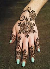 and stylish floral mehndi designs for