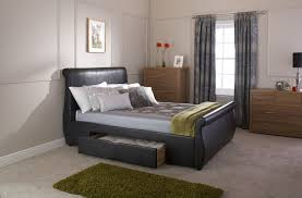 5ft Bed Frame Gfw Alabama 5ft Kingsize Black Faux Leather Storage Bed Frame By Gfw