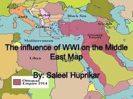Ottoman Empire In Wwi Wwi Borders Countries Involved Ottoman Empire Britain