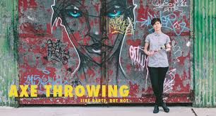 axe throwing like darts but not