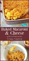 baked macaroni and cheese with cheesy crumb topping recipe