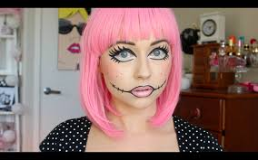 halloween tutorial doll makeup youtube