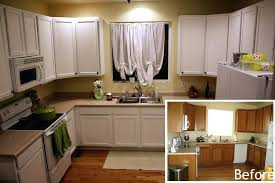 Staining Kitchen Cabinets White Painting Oak Kitchen Cabinets Before And After U2013 Colorviewfinder Co